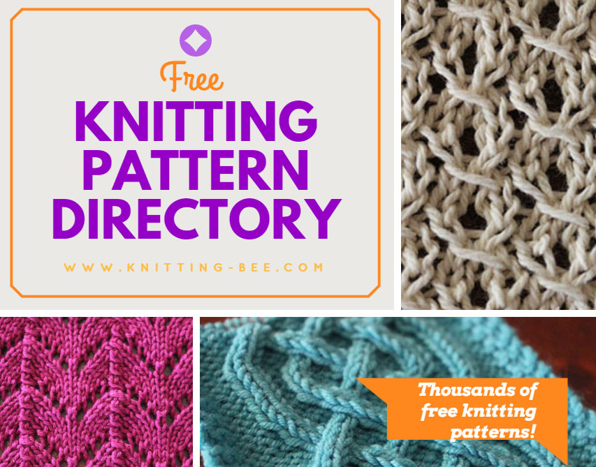 Directory of Free Knitting Patterns www.knitting-bee.com