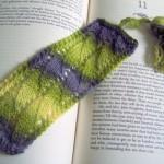 Lace Waves Bookmark Free Knitting Pattern