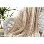 Braided Cables Knit Throw Free Pattern