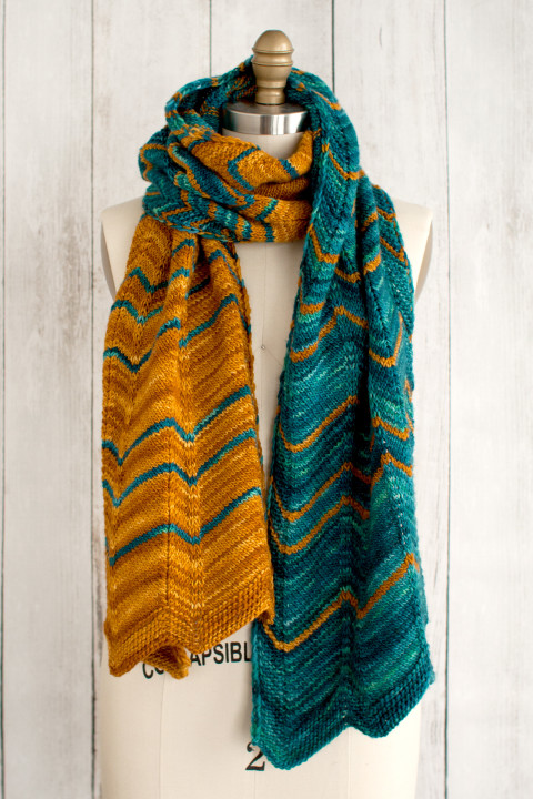 Dentado Scarf Free Knitting Pattern Knitting Bee