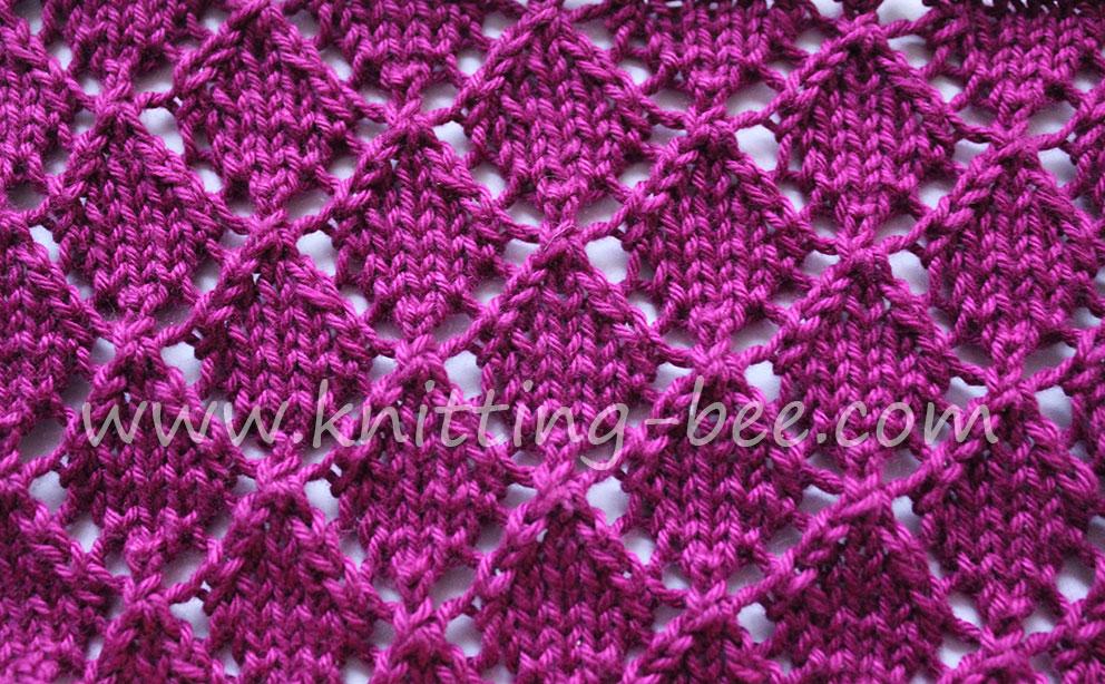 Diamond Lace Free Knitting Stitch