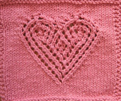 10 Awesome Heart Knitting Stitches Knitting Bee