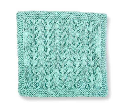 Knit Stitch Block #1- Lacy Eyelet Vines