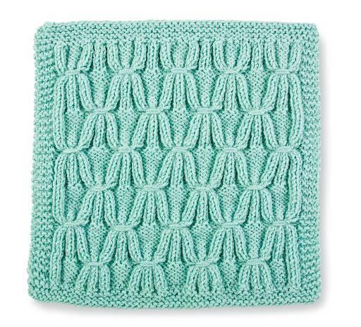 Knit Stitch Block  2- Smocked Trellis