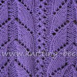 Lacy Arch Free Knitting Stitch