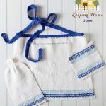 Ombre Sea Kitchen Set Free Knitting Pattern