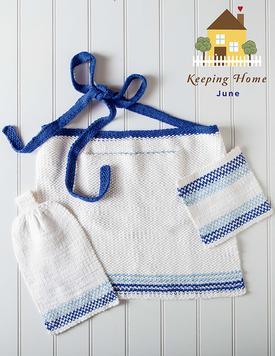 Ombre Sea Kitchen Set Free Knitting Pattern