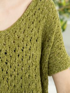 Ona - Lacy Ladies Top Free Knitting Pattern 1