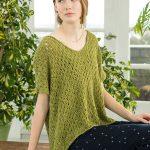 Ona - Lacy Ladies Top Free Knitting Pattern