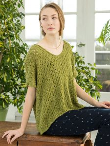 Ona - Lacy Ladies Top Free Knitting Pattern