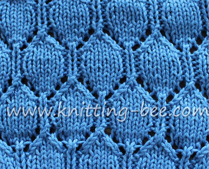 Knitting Lace Stitches Patterns : Oval lace pattern free knitting stitch ⋆ bee