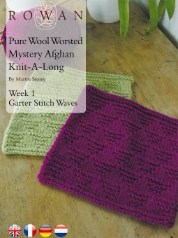 Pure Wool Worsted Mystery Afghan Knit-A-Long Week 1 Garter Stitch Waves