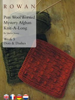 Pure Wool Worsted Mystery Afghan Knit-A-Long Week 5 Dots & Dashes