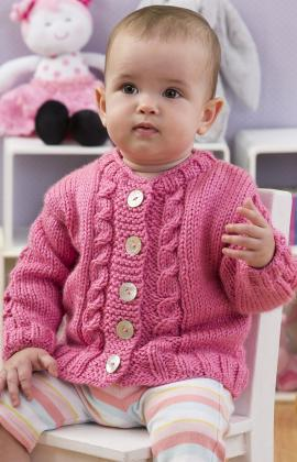 Seeds of Spring Free Baby Sweater Knitting Pattern