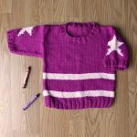 Star Pullover for Little Girls Free Knitting Pattern