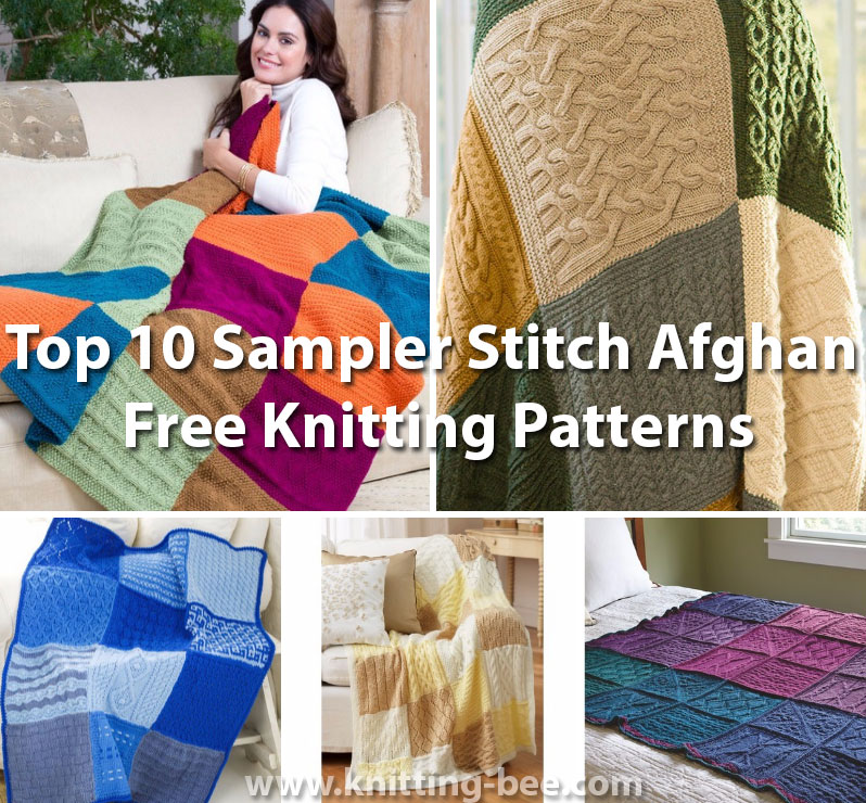 Top 10 Sampler Stitch Afghan Free Knitting Patterns Knitting Bee