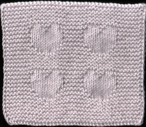 heart dishcloth free knitting pattern