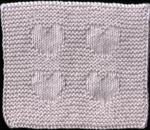 heart dishcloth free knitting pattern