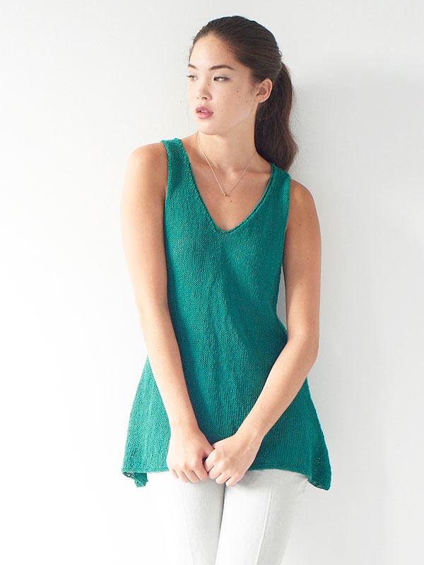 Filia Sleeveless Women's Tee Free Knitting Pattern