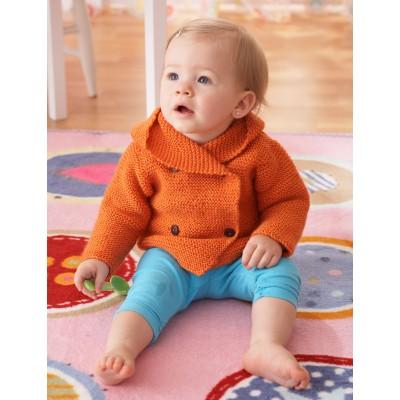 Garter Stitch Hooded Jacket Free Knitting Pattern