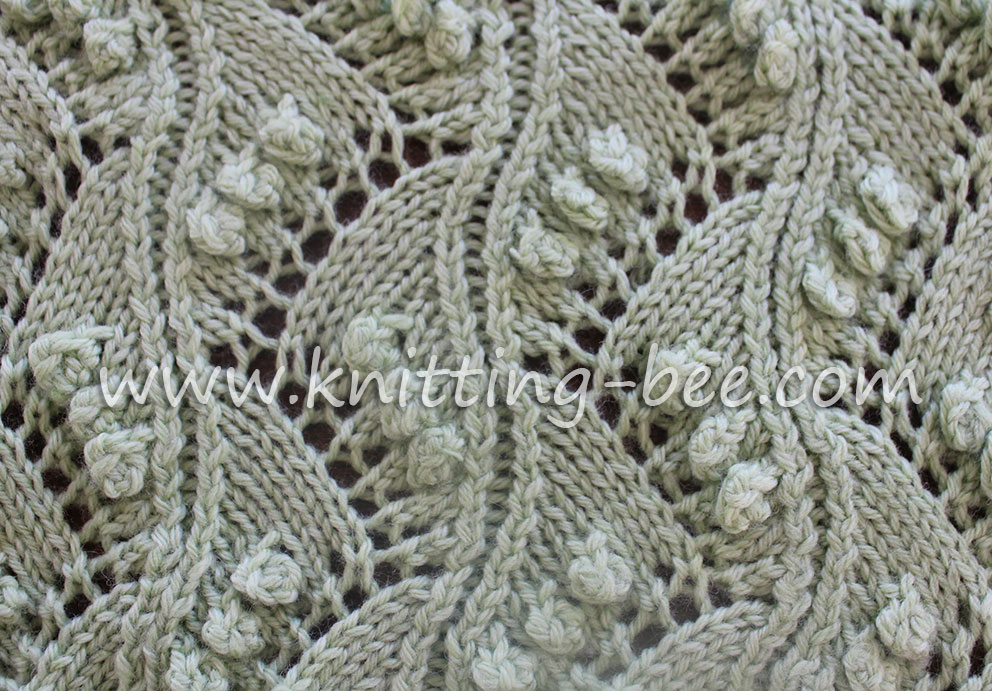 Lace Vertical Zig Zag with Bobbles Free Knitting Stitch 81ed3c9596