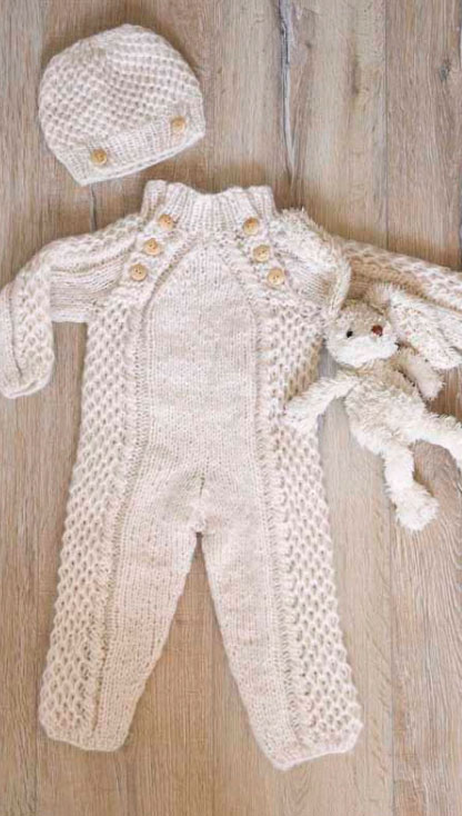 Child Overall and Hat Free Knitting Pattern