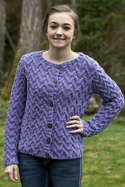 Allison Cabled Cardigan Knitting Pattern