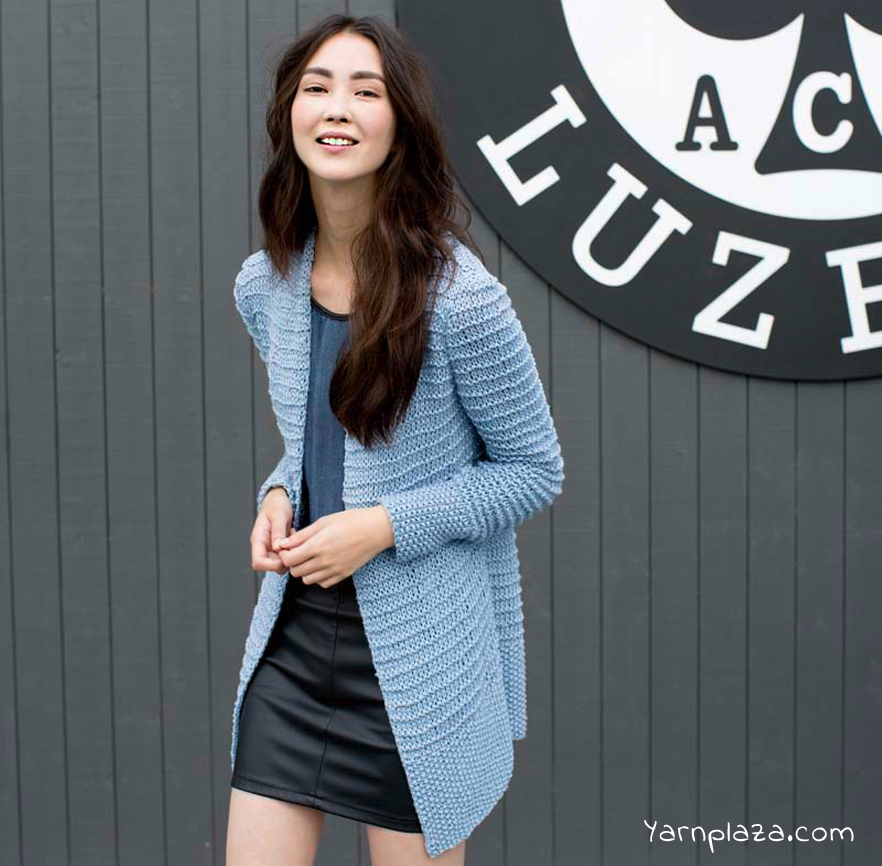 Amira Long Cardigan Free Knitting Pattern ⋆ Knitting Bee