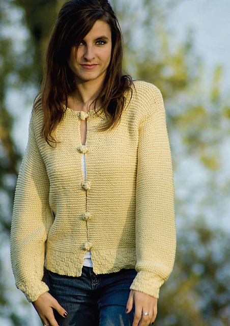 Basket and Garter Stitch Cardigan