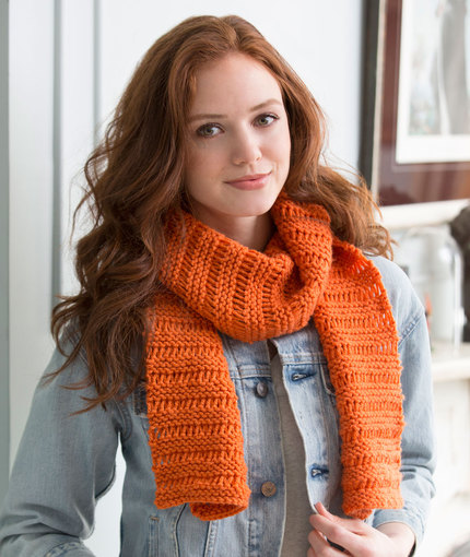 Beginner Garter Drop-Stitch Scarf Free Knitting Pattern