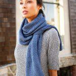 Beignet Garter Stitch Free Scarf Knitting Pattern