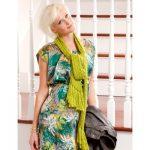 Bernat Biased Opinion Free Intermediate Women's Scarf Knit Pattern