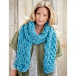 Bernat Cable Edge Scarf Free Knit Pattern
