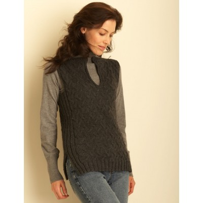 Bernat Cable Vest Free Knitting Pattern