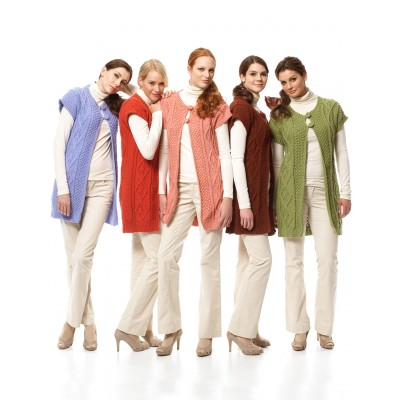 Bernat Long Cable Vest Free Knitting Pattern