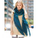 Bernat Medley Muffler Free Beginner Women's Scarf Knit Pattern