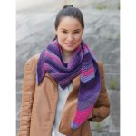 Bernat Triangle Scarf Free Beginner Women's Knit Pattern