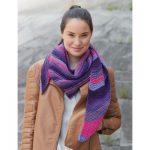 Bernat Triangle Scarf Free Beginner Women's Knit Pattern