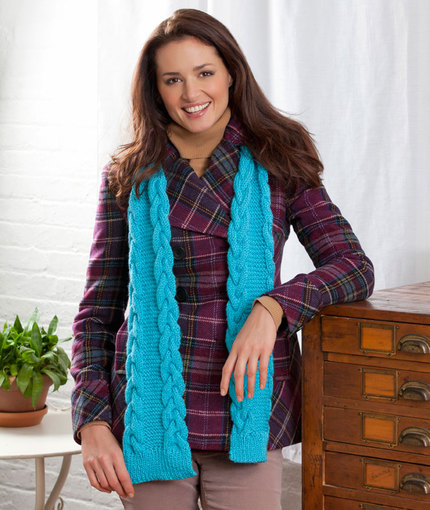 Cable-Edge Scarf Free Knitting Pattern