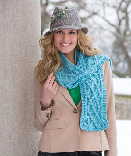 Cable Your Scarf Free Knit Pattern