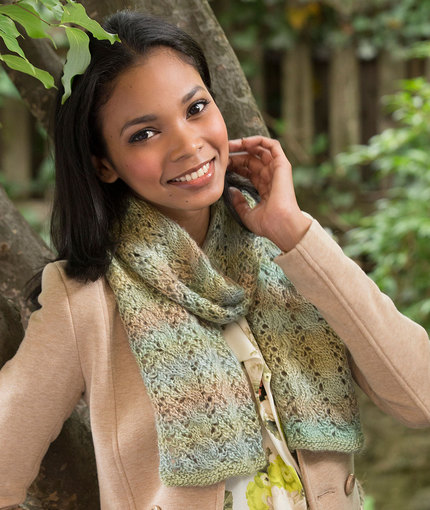 Cable and Lace Scarf Free Knitting Pattern