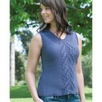 Cable and Rib Top vest Free Knitting Pattern