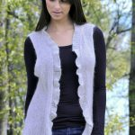 Vest with Frill Free Knit Pattern
