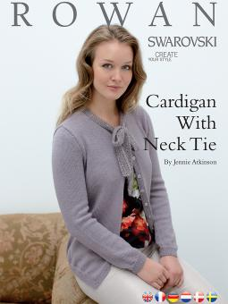 Cardigan with Neck Tie Free Knitting Pattern