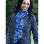 Caron Bluesy Scarf Free Easy Women's Scarf Knit Pattern