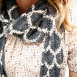 Chakna color work free scarf knitting pattern