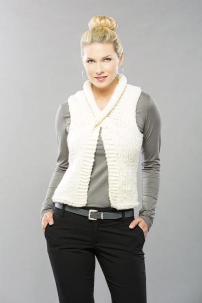 Collar Cross Vest Free Knitting Pattern