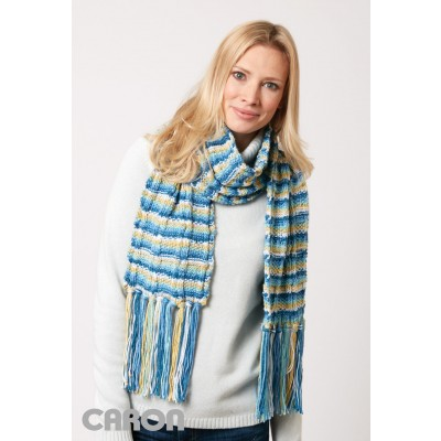 Color Weave Scarf Free Knitting Pattern