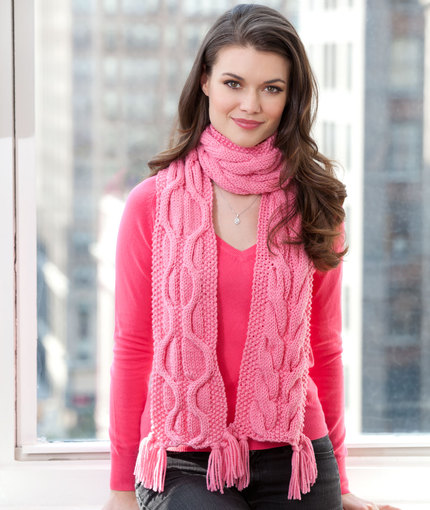 Compassion Scarf free Cable Knit Pattern
