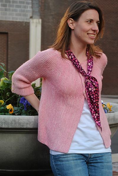 Corinne - Garter Stitch Cardigan Pattern 1